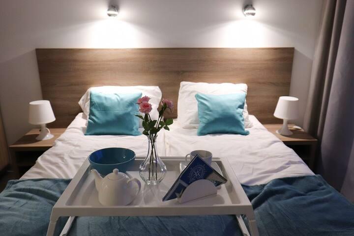 Nowe mieszkanie w centrum Mielna- 900m od plaży!