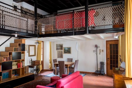 Appartamento soppalcato nel centro storico - Como - Apartment