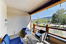 Take in the mountain views from your private balcony.
