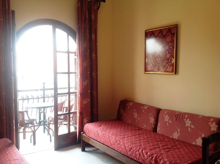 Apartment living room/kitchenette