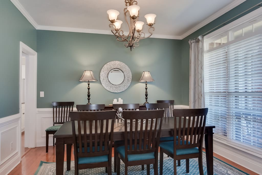 Seating for 8 in the Formal Dining