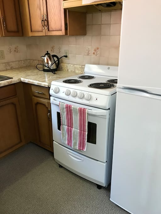 Full working kitchen shared by two private BnB rooms only.