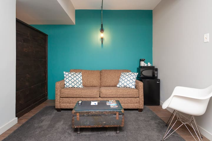 Bright Downtown Studio with Pullout Couch