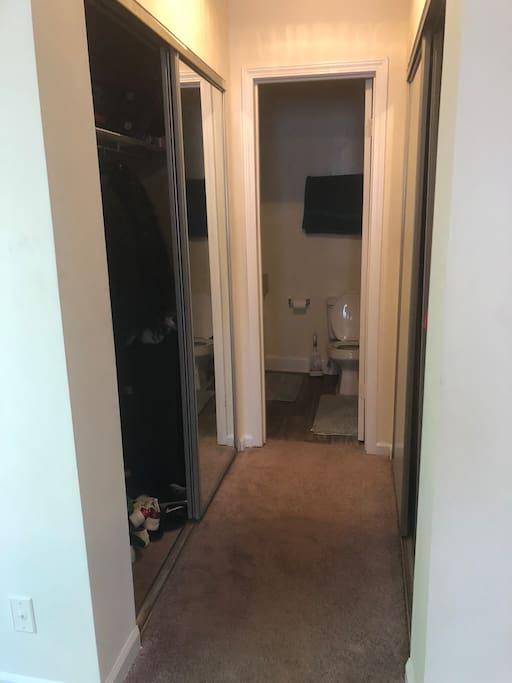 Masters bedroom hallway