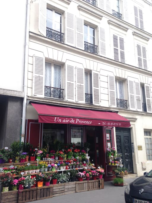 Flowershop at bottom of the house