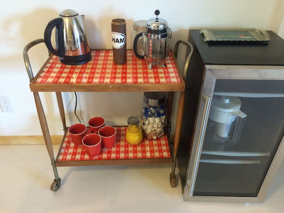 Mid-century coffee and tea cart