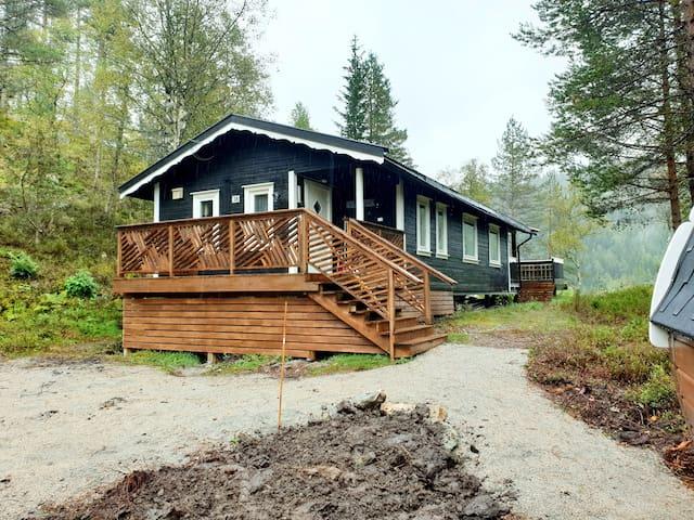 Relaxing barrelsauna& cozy cabin. Pets allowed