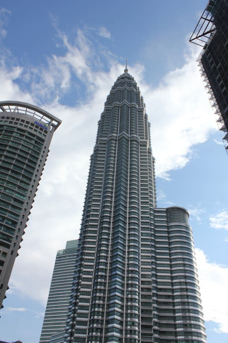 View of KLCC Twin Towers from Balcony