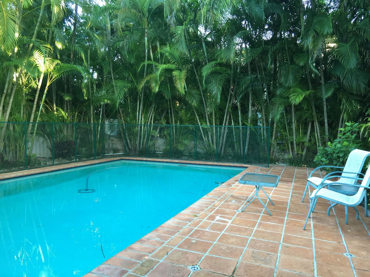 30 x 15 pool, full children's safety fence is requested , cleaned weekly