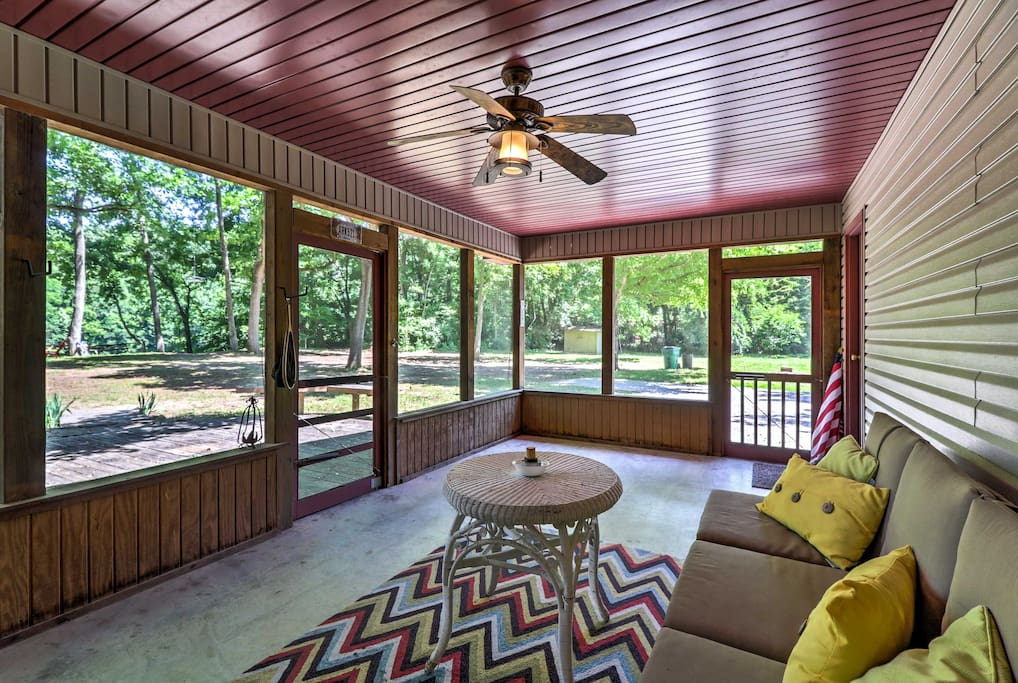 From the screened porch to the kitchen, this house will feel like home.