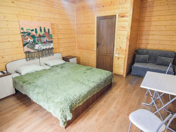 Triple room, two single beds 90х220, sofa 120x200. Guest House Mama Jan