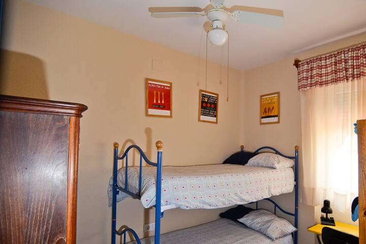 Habitación con  litera, 2 personas.