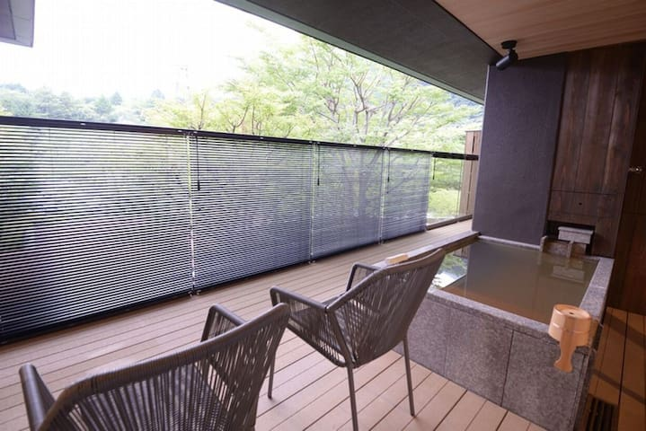 【Waku or Zen】Hakone / Kowakudani  ★ All rooms with open-air hot spring baths free-flowing from the source (with 2 meals)