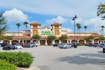 Publix supermarket right next door to Vista Cay Resort