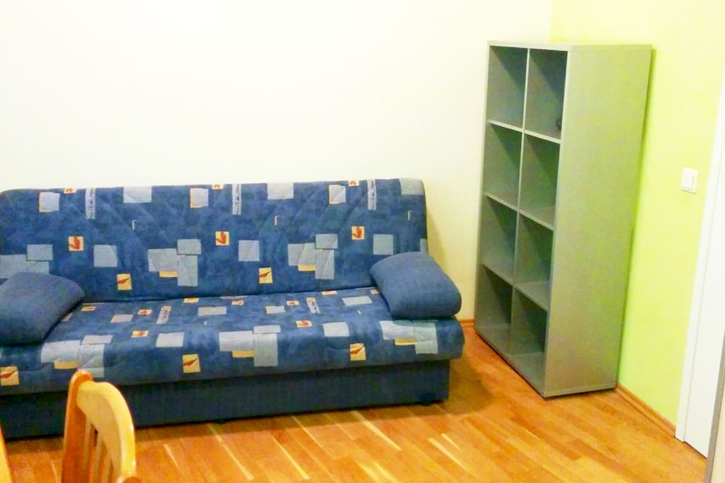 Sofa and shelf