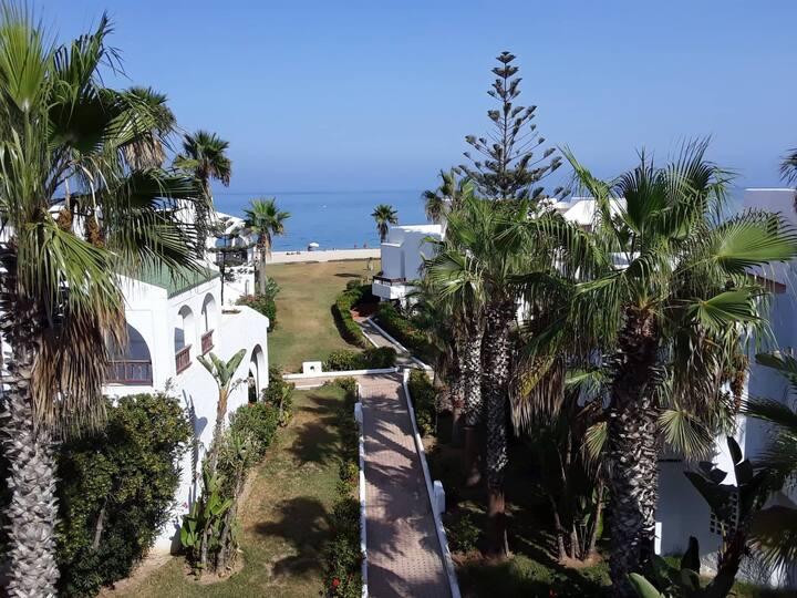 Tetouan {bahia smir} luxury villa front beach