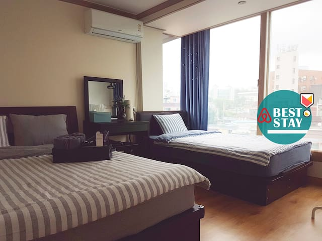 [Sinchon / Hongdae] Private Triple Room