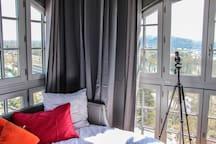 Chambre 360 degrés vue sur Pyrénées.