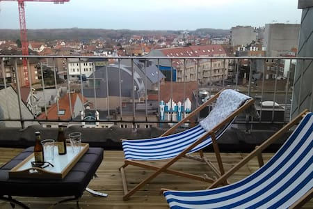 Penthouse to Relax Terraces Sea&City Hyper Central - De Panne - Apartament