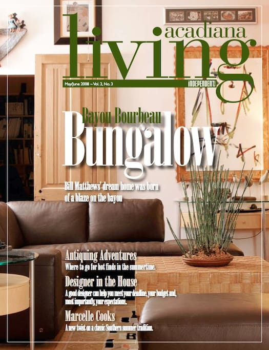 Another shot of the Living Room, as featured in Acadiana Living Magazine 2008...