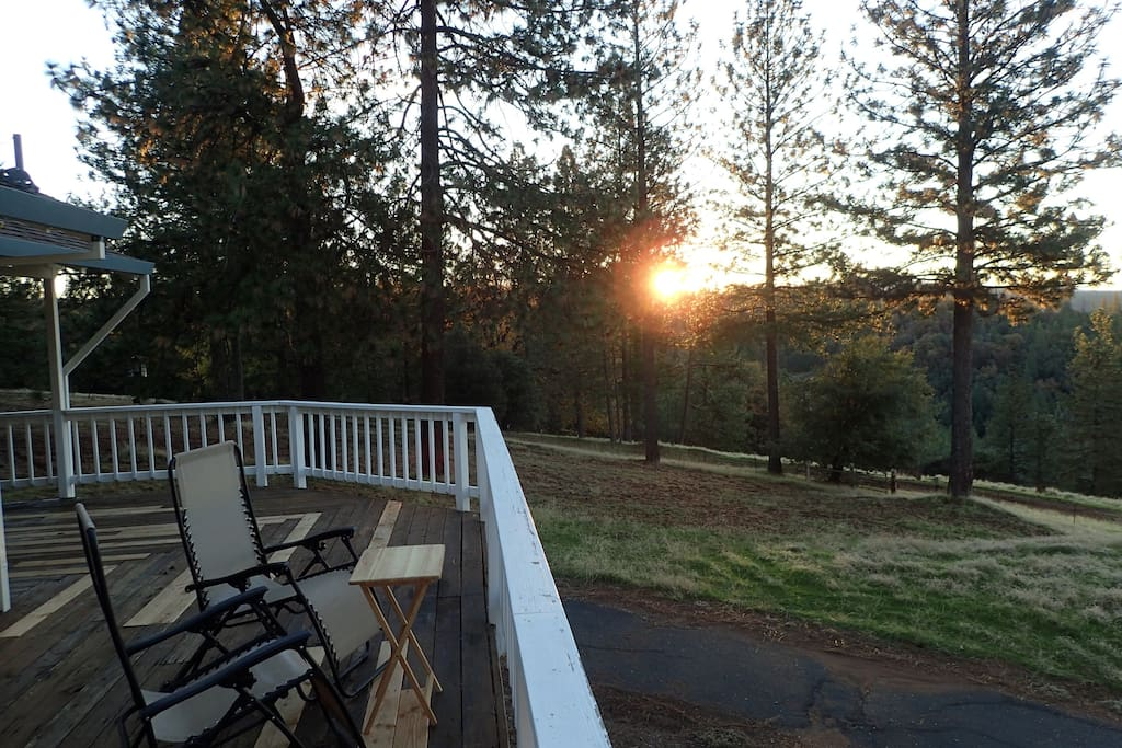 Sunrise from deck