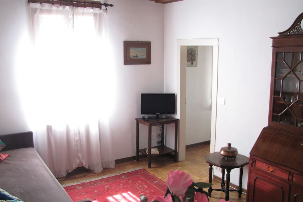 Living Room and the door to the Bedroom