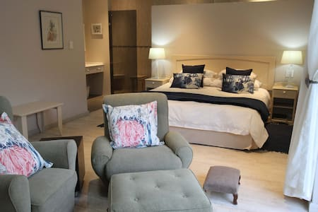 The Cherry Suite is very comfortable for a single traveller or a couple