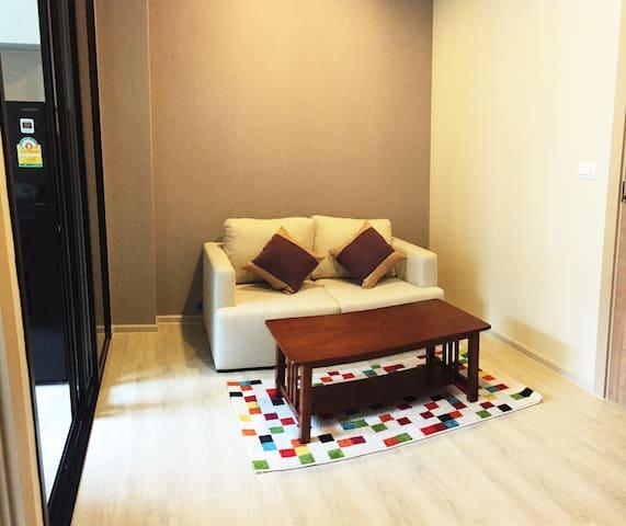 Cozy 1BR MRT RAMA 9 Sawadee Bkk - Bangkok - Apartamento
