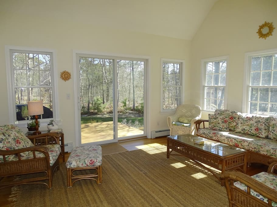 Relax in the Sunroom  opens to front & back