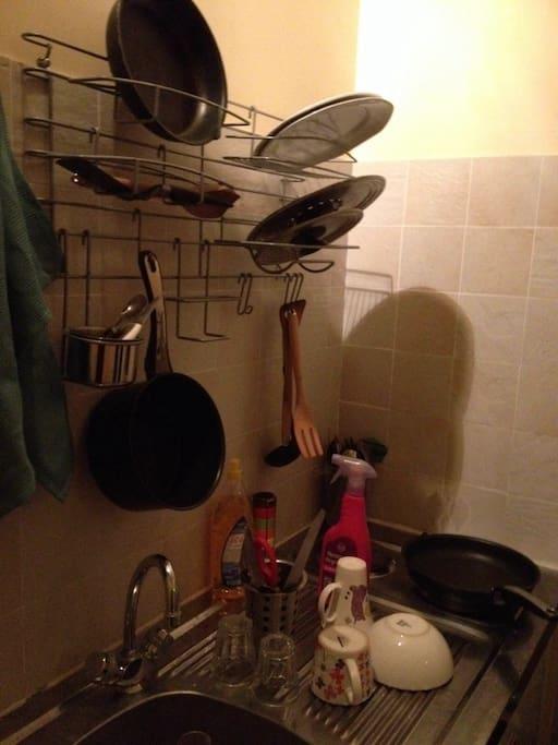 équipement cuisine (pas de four)