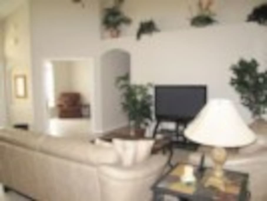 Gathering room with large flat screen TV