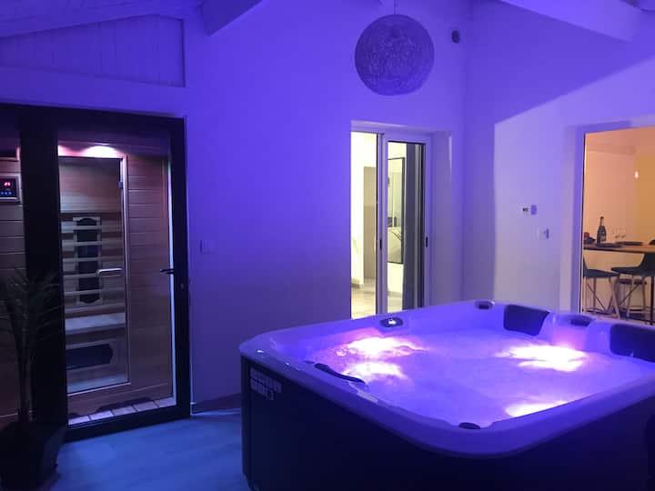 Superbe appartement Jacuzzi et Sauna privatifs