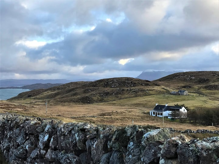 Torran Cottage, Stoer, NC500 Highlands, with piano