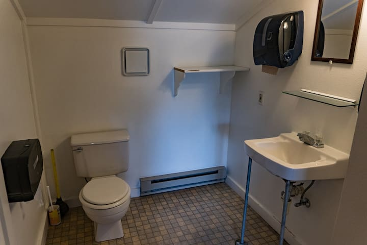 One of the bathrooms upstairs.