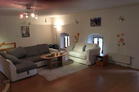 Stylový podkrovní apartmán v Beskydech, parkování - Loft