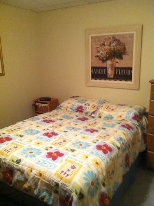 Comfortable double bed/ dresser available