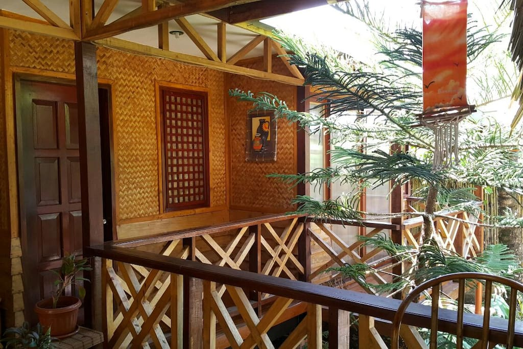 Native style exterior of the rooms keep it well ventilated especially for summer