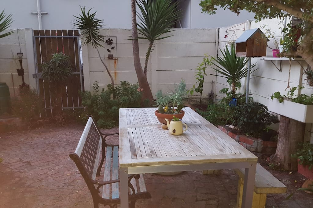Garden area, lovely for entertaining, having a braai and chilling out.