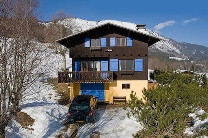 Authentic alpine chalet of charm. Piste access.