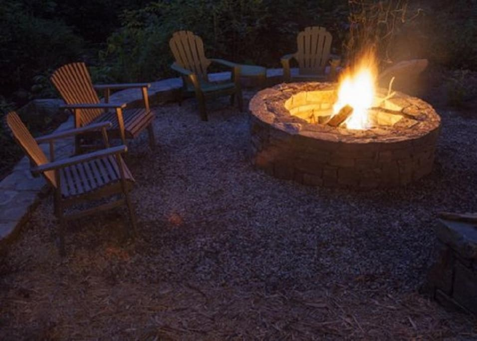 We saved you a seat by the fire, just a few feet away from Watia Creek!