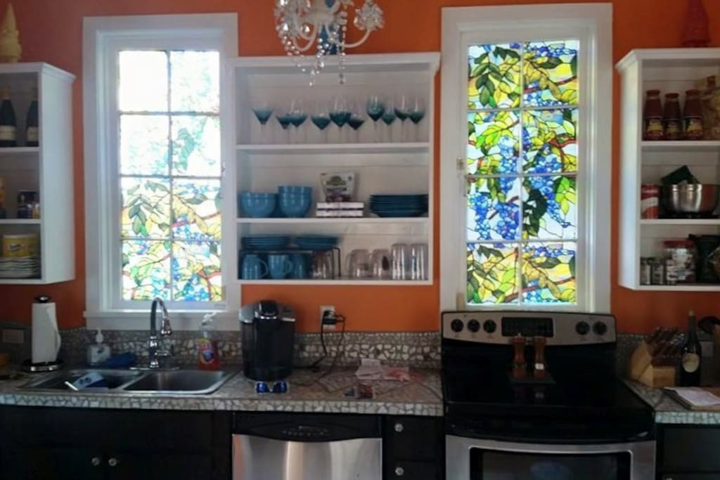 Galley style kitchen to make your vacation more like home.