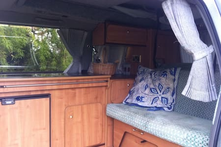 stationary campervan - East Sussex