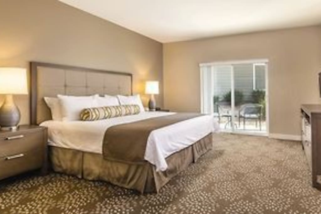 Master Bedroom w/king size bed and private bathroom