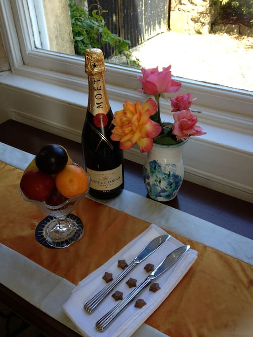 Pre wedding night, champagne reception can be arranged.