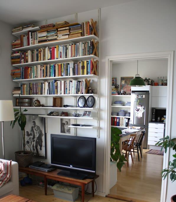 Bedroom-livingroom and kitchen