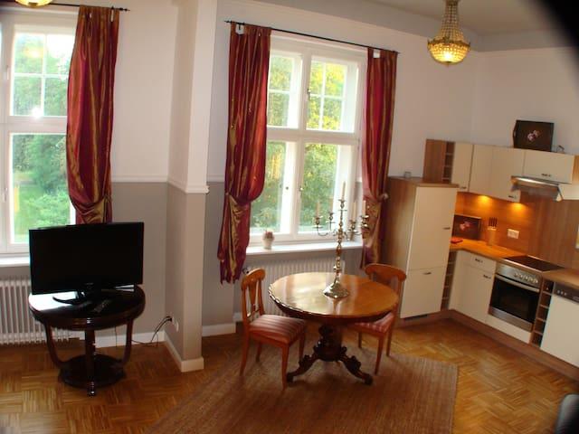 Schloss-Apartment mit Parkblick - Badow