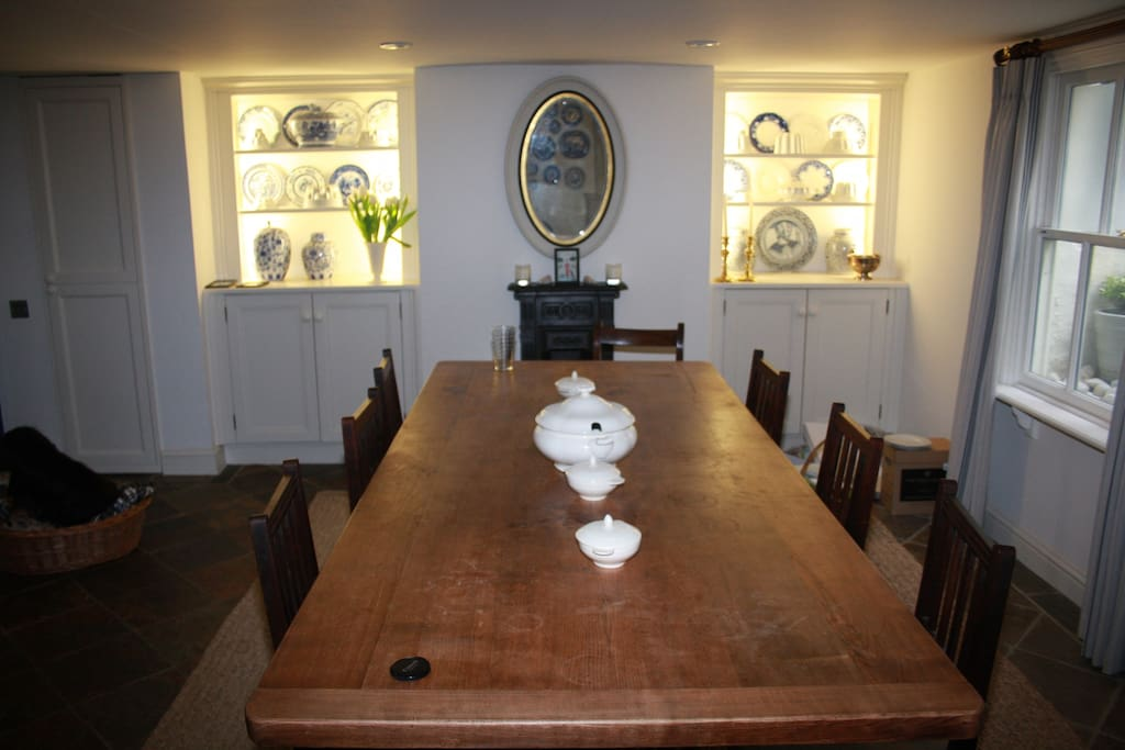 Guests enjoy the use of the kitchen, dining room and rear garden