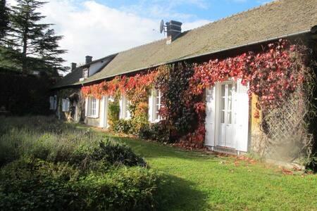 Longère 19s Vallée Eure proche Anet - Haus