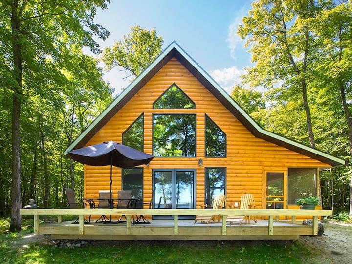 Spring Awakening in a Lakeside Cabin