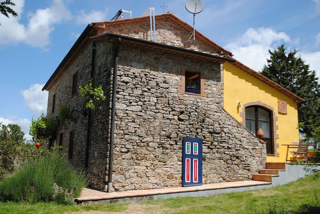 Seitenansicht Haus Azzurro